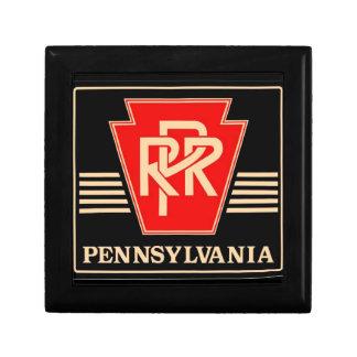 Pennsylvania Railroad Logo, Black & Gold Jewelry Boxes