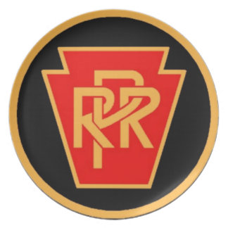 Pennsylvania Railroad Logo,Black & Gold Gift Plate