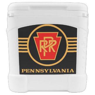 Pennsylvania Railroad Logo, Black & Gold Igloo Rolling Cooler