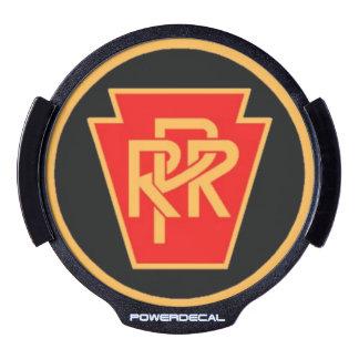 Pennsylvania Railroad Logo, Black & Gold LED Window Decal