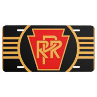 Pennsylvania Railroad Logo, Black & Gold License Plate