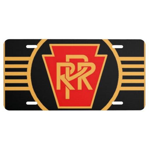 Pennsylvania Railroad Logo, Black & Gold License Plate
