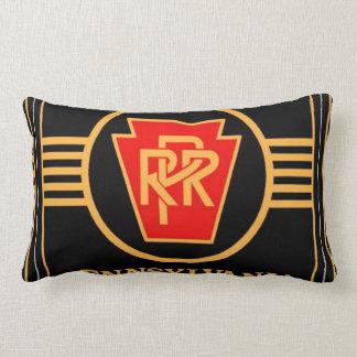 Pennsylvania Railroad Logo, Black & Gold Lumbar Pillow