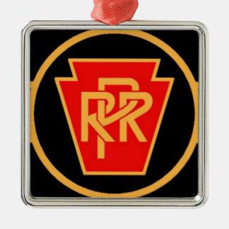 Pennsylvania Railroad Logo, Black & Gold Metal Ornament