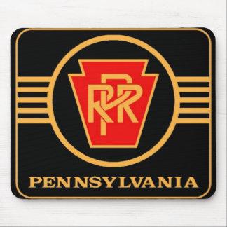 Pennsylvania Railroad Logo, Black & Gold Mouse Pad