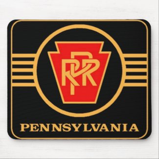 Pennsylvania Railroad Logo, Black & Gold mousepad
