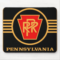 Pennsylvania Railroad Logo, Black & Gold Mousepads