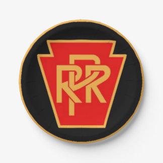 Pennsylvania Railroad Logo Black&Gold Paper Plates