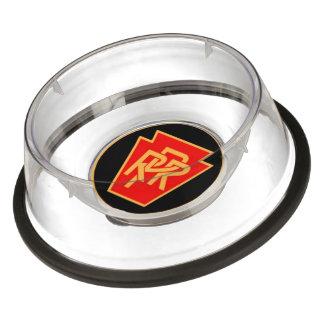Pennsylvania Railroad Logo, Black & Gold Pet Bowl