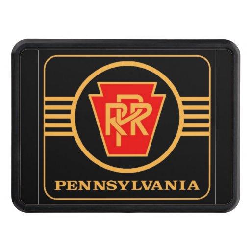 Pennsylvania Railroad Logo, Black & Gold Hitch Cover