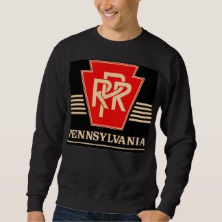 Pennsylvania Railroad Logo Black & Gold Sweatshirt