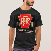 Pennsylvania Railroad Logo Black & Gold T-Shirt