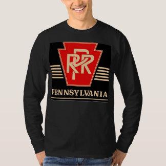 Pennsylvania Railroad Logo Black & Gold T-Shirt