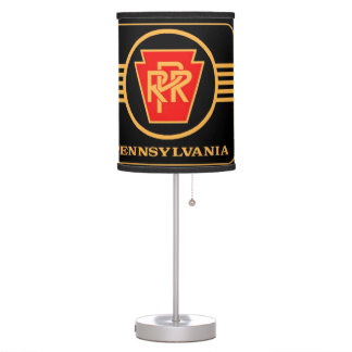 Pennsylvania Railroad Logo, Black & Gold Table Lamp