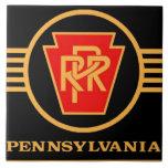 Pennsylvania Railroad Logo, Black & Gold Tile