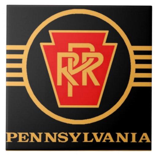 Top Logo Design wedding logo design inspiration : Pennsylvania Railroad Logo, Black u0026 Gold Tile : Zazzle