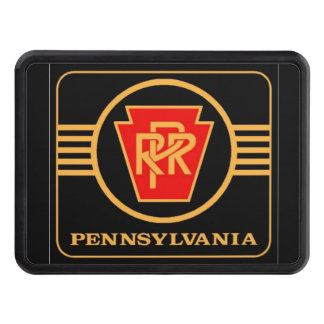 Pennsylvania Railroad Logo, Black & Gold Tow Hitch Cover