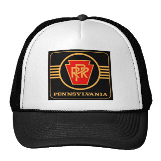 Pennsylvania Railroad Logo, Black & Gold Trucker Hat