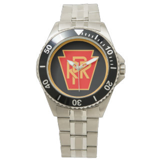 Pennsylvania Railroad Logo, Black & Gold Watches