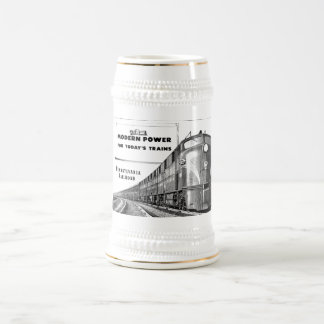Pennsylvania Railroad Modern Train Power Beer Stein
