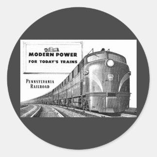 Pennsylvania Railroad Modern Train Power Classic Round Sticker