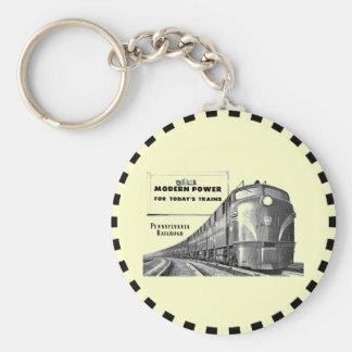 Pennsylvania Railroad Modern Train Power Keychain