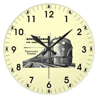 Pennsylvania Railroad Modern Train Power Large Clock