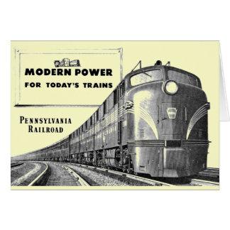 Pennsylvania Railroad Modern Train Power Note Card