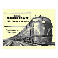 Pennsylvania Railroad Modern Train Power Postcard