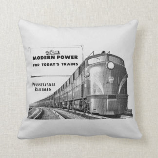 Pennsylvania Railroad Modern Train Power Throw Pillow