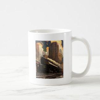 Pennsylvania Railroad Poster Classic White Coffee Mug