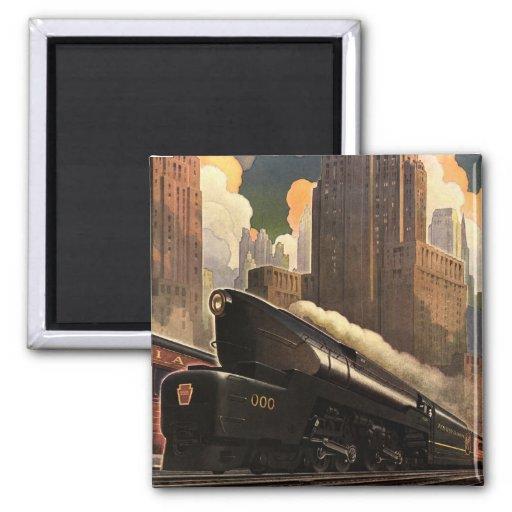 Pennsylvania Railroad Poster Refrigerator Magnets