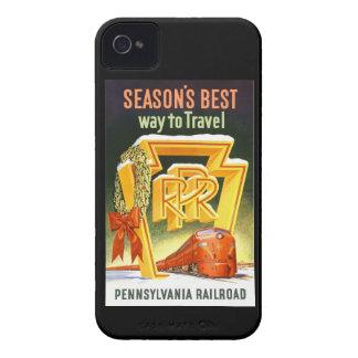 Pennsylvania Railroad, Season's Best Way To Travel iPhone 4 Cover