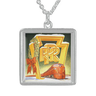 Pennsylvania Railroad, Season's Best Way To Travel Sterling Silver Necklace