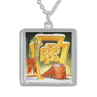 Pennsylvania Railroad,Season's Best Way To Travel Sterling Silver Necklace