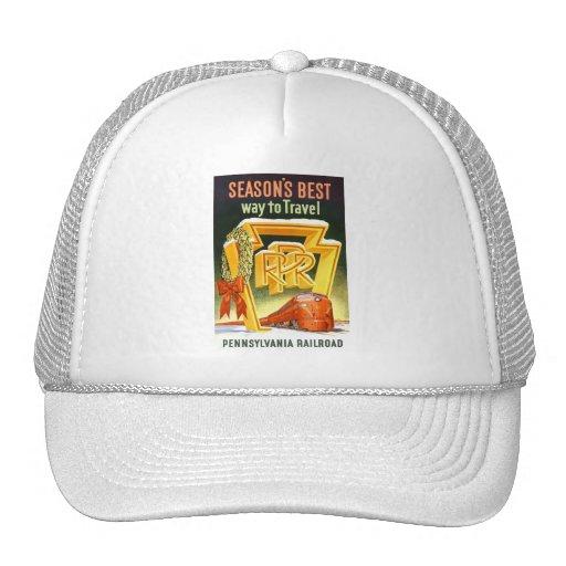 Pennsylvania Railroad,Season's Best Way To Travel Trucker Hat