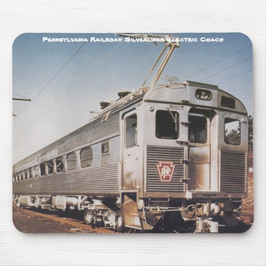 Pennsylvania Railroad Silverliner Electric Coach Mouse Pad