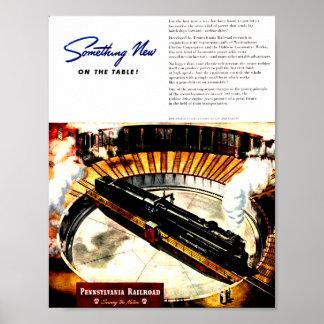 Pennsylvania Railroad Steam Turbine Poster
