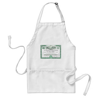 Pennsylvania Railroad Stock Certificate Adult Apron