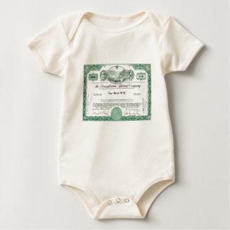 Pennsylvania Railroad Stock Certificate Baby Bodysuit