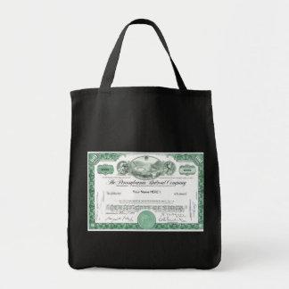 Pennsylvania Railroad Stock Certificate Bag