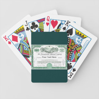 Pennsylvania Railroad Stock Certificate Bicycle Playing Cards