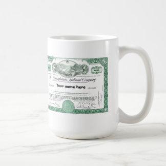 Pennsylvania Railroad Stock Certificate Coffee Mug