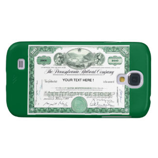 Pennsylvania Railroad Stock Certificate Galaxy S4 Case