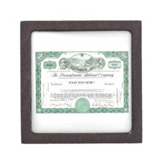 Pennsylvania Railroad Stock Certificate Jewelry Box