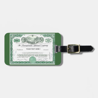 Pennsylvania Railroad Stock Certificate Tags For Luggage