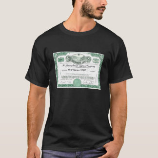 Pennsylvania Railroad Stock Certificate T-Shirt