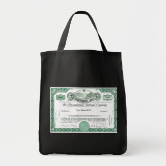 Pennsylvania Railroad Stock Certificate Tote Bag
