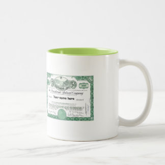 Pennsylvania Railroad Stock Certificate Two-Tone Coffee Mug