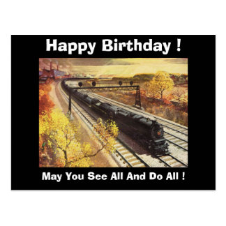 Pennsylvania Railroad Tanker Trains 1942 Birthday Postcard